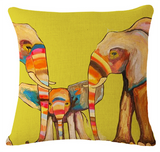 Elephant Series Cushion Covers Family