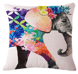 Elephant Series Cushion Covers Flower