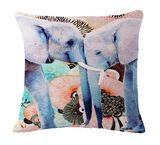 Elephant Series Cushion Covers Lovers
