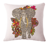 Elephant Series Cushion Covers Grey