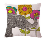 Elephant Series Cushion Covers White 3
