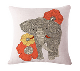 Elephant Series Cushion Covers White 4