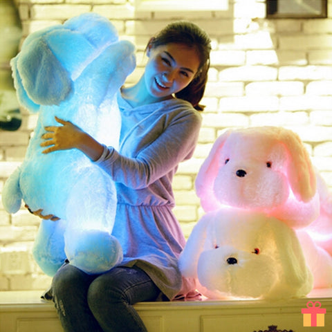 Fluffy Dog LED Plush Toy Pillow