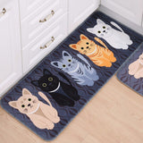 Grey Multi Kitty Anti Slip Carpet
