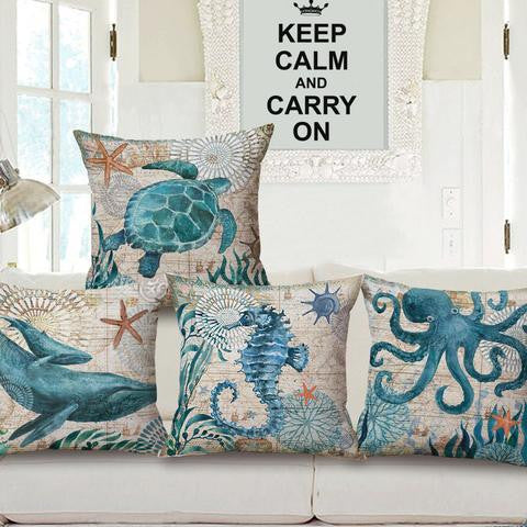 Marine Animals Cushion Covers