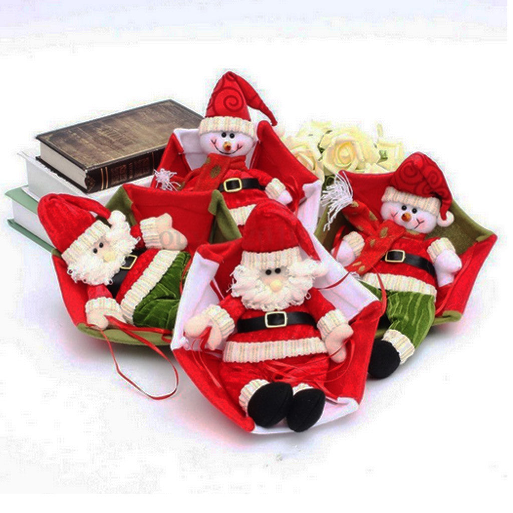 Home Ceiling Christmas Hanging Decoration Designs Green Santa