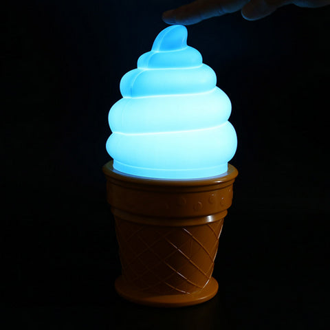 Ice Cream Cone LED Blue Lamp