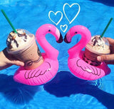 Inflatable Flamingo Drink Can Holder