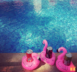 Inflatable Flamingo Drink Can Holder Swimming-Pool