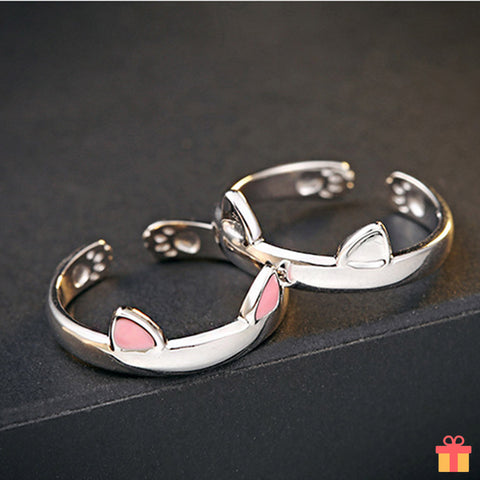 Kitty Ear And Paw Ring