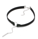 Leather Choker with Pendant
