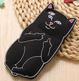 Middle Finger iPhone Cover Black Color