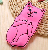 Middle Finger iPhone Cover Dark Pink Color