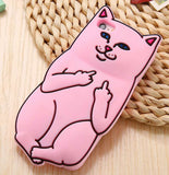 Middle Finger iPhone Cover Light Pink Color