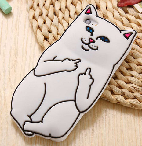 Middle Finger iPhone Cover White Color