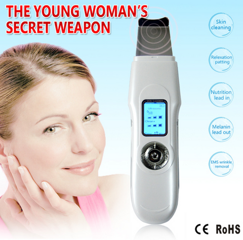 New Ultrasonic Facial Tool with Ions