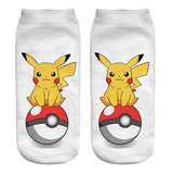 Pikachu Socks Pikachu Pokeball