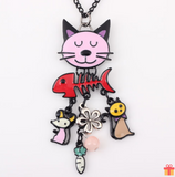 Pop Cat Long Necklace