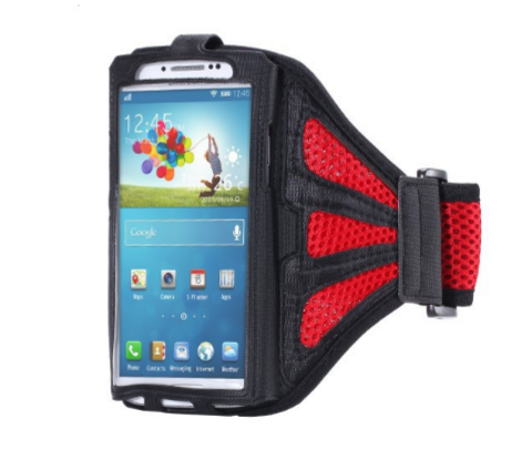 Waterproof Sports Arm Band For Samsung Red