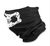 Side view of skull face design