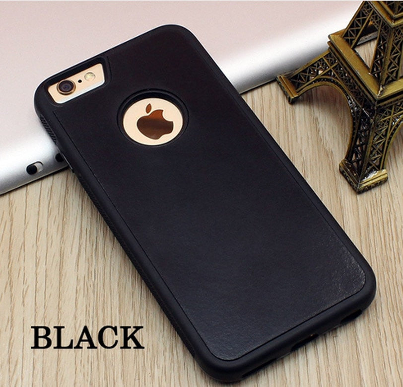 Stick on Anti gravity iPhone Case Black