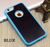 Stick on Anti gravity iPhone Case Blue