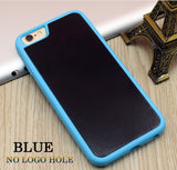 Stick on Anti gravity iPhone Case Full Blue
