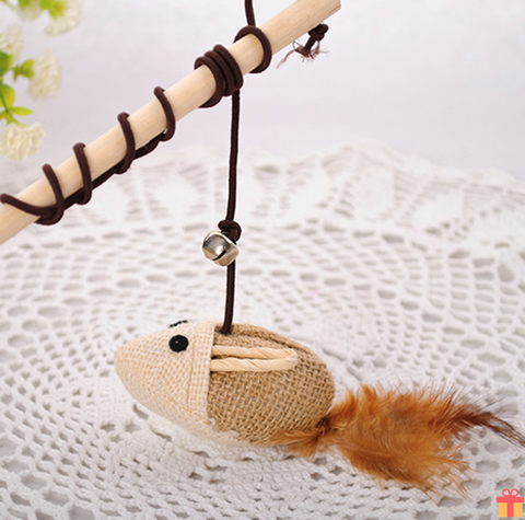 Wooden Rod Cat Toy