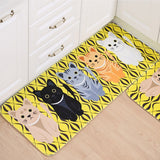 Yellow Multi Kitty Anti Slip Carpet