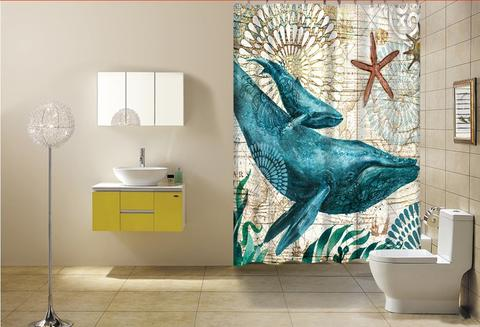 Marine Animals Shower Curtain