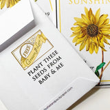 Baby Shower Sunflower-Favors™ - RAY OF SUNSHINE! SEED PACKET FAVORS