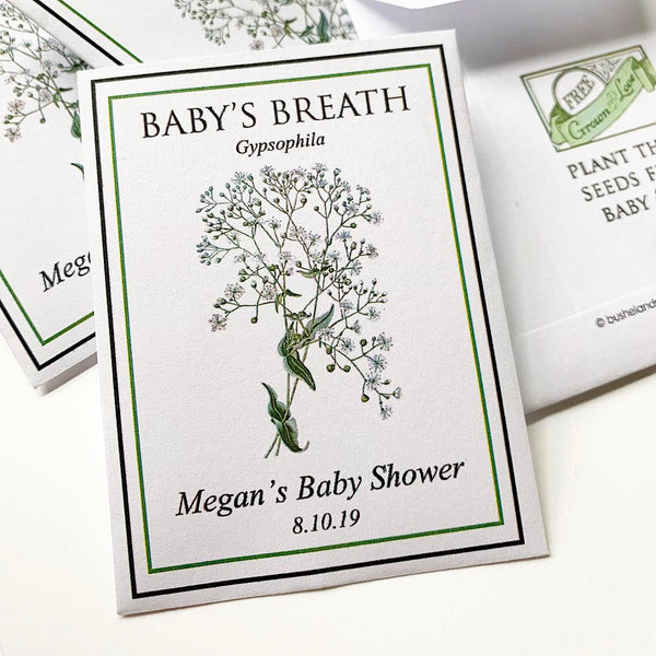 Baby Shower Seed-Favors™ - BABY'S BREATH SEED PACKET FAVORS