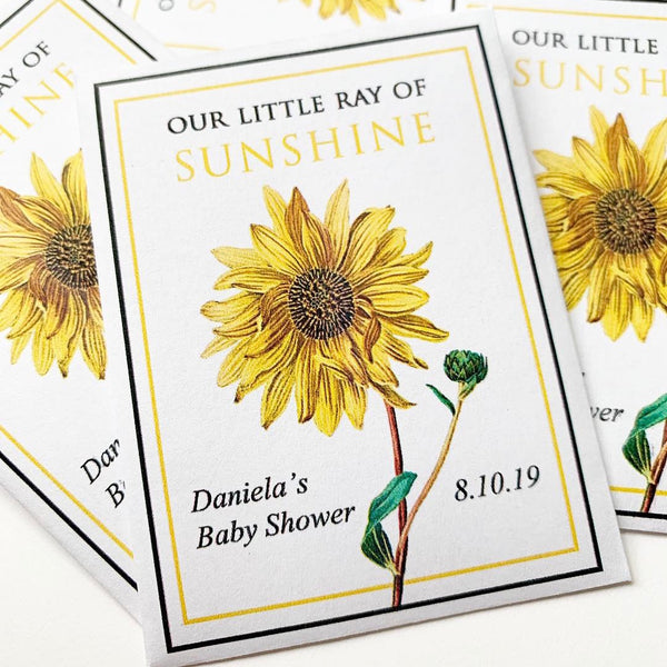 Baby Shower Sunflower-Favors™ - RAY OF SUNSHINE!