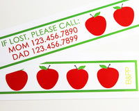Custom Vinyl ID Bands - Set of 12 Apple Bracelets