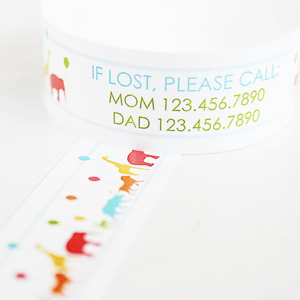 Custom Vinyl ID Bands - Set of 12 Animal Parade Bracelets