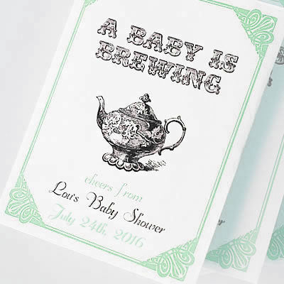 Par-Tea Favors™ - BABY IS BREWING