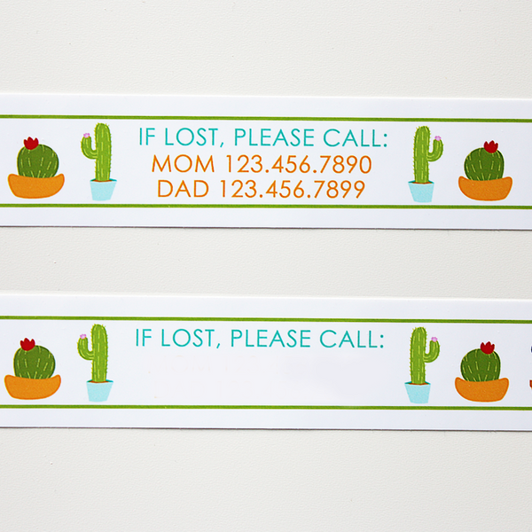 Custom Vinyl ID Bands - Set of 12 Cactus Bracelets