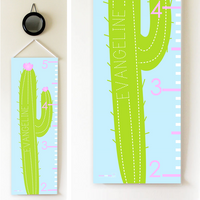 Kids Growth Chart - Personalized Height Chart - CACTUS