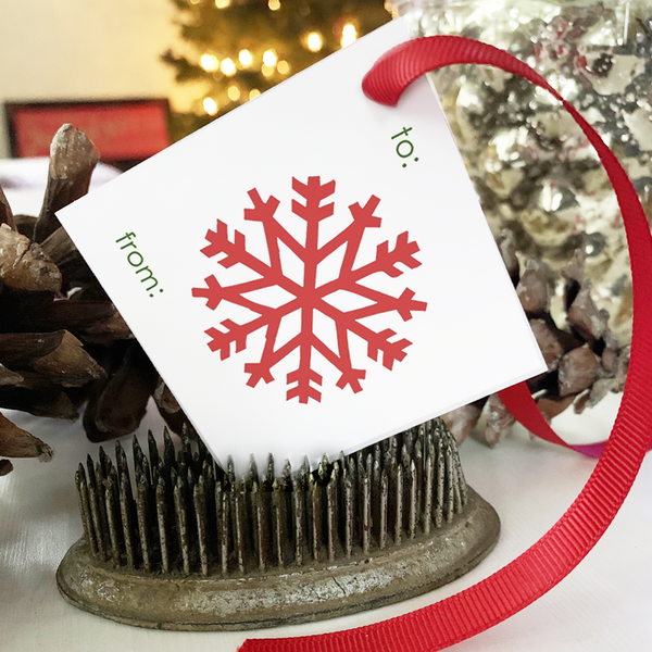 PRINTABLE Holiday Gift Tags - Big Snowflake