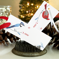 PRINTABLE Holiday Gift Tags - BIRDS
