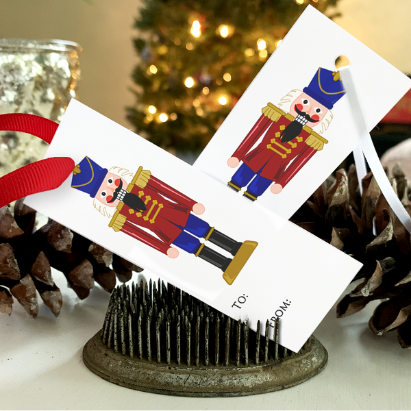PRINTABLE Holiday Gift Tags - Nutcracker