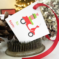 PRINTABLE Holiday Gift Tags - Festive Vespa