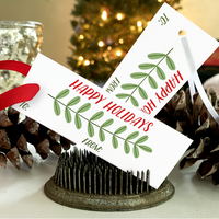 Printable Holiday Gift Tags - VINES