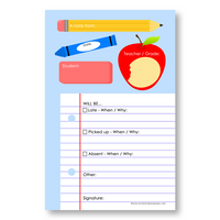 Note Pad : Back-To-School Notepad