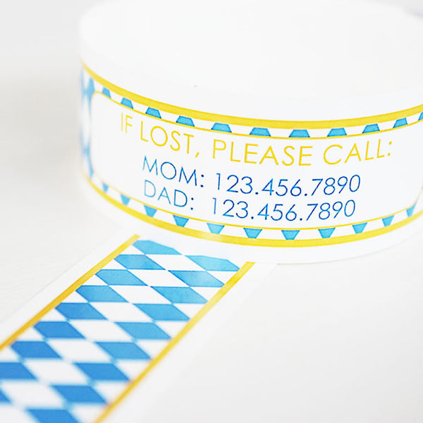 Custom Vinyl ID Bands - Set of 12 Oktoberfest Bracelets
