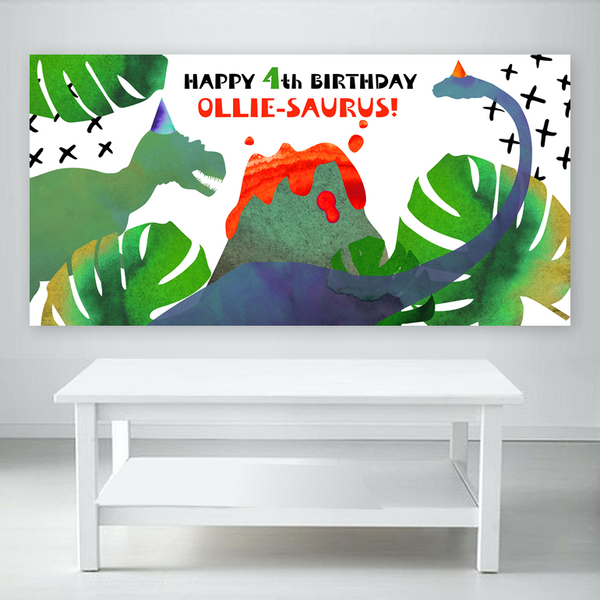 Dino Geo Backdrop Banner File