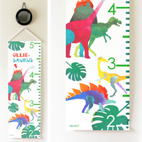 Kids Growth Chart - Personalized Height Chart - DINO GEO