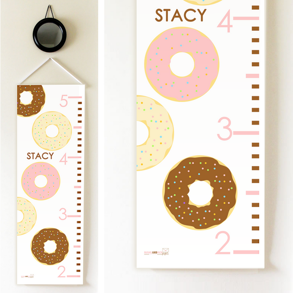 Kids Growth Chart - Personalized Height Chart - DONUT