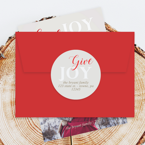 "Holiday Address Labels - 3"" Give Joy"