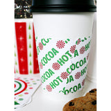 Holiday Cup Sleeves - Hot Cocoa